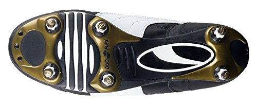 King Pro SG Football Boots – Black/White/Gold – size 9