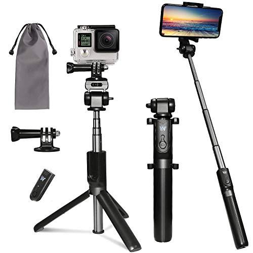 Peyou Palo Selfie Trípode para Teléfono y Gopro, [6 en 1] Palo Selfie con Control Remoto, Adaptador de Teléfono/GoPro,1/4'' Tornillo Adaptador, Bolsa, para Teléfono,Camara,GoPro