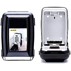 LIYOUMEI Boite à clé sécurisée Key Safe Rangement sécurisé avec Code numérique à 4 Chiffres, boîte à clés avec Combinaison numérique, étanche à l'eau et à la Rouille, Coffre-Fort, boîte à clé pour Le