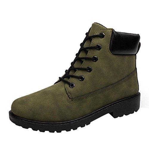 Tefamore nMen Ankle Boots Fell gefüttert Herbst Warm Martin Stiefel Winterschuhe Armee-grün