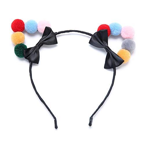 Damen-nettes Hairball-Katzen-Ohr-Stirnband, Weihnachtsfest-Stirnband, sexy Zusätze für Frauen und junge Mädchen - Abstand Kostüm Schmuck