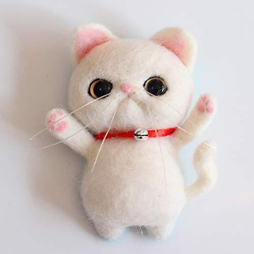 Artec360 - Kit fieltro agujas gato broche decorativo
