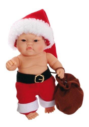 Paola Reina- Lucas, muñeco de Vinilo, Vestido en Papá Noel 22 cm (01129)