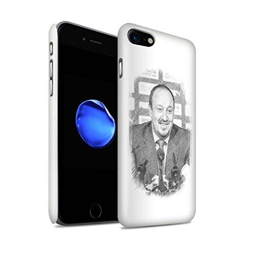 Officiel Newcastle United FC Coque / Clipser Brillant Etui pour Apple iPhone 7 / Bienvenue Design / NUFC Rafa Benítez Collection Croquis
