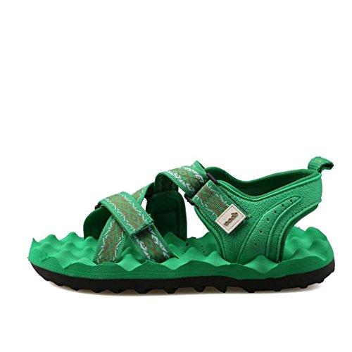 ZXCV Scarpe all'aperto Pantofole dei sandali dei bambini di Roma Impermeabili antiscivolo Leisure Sports Outdoor Scarpe da spiaggia da uomo Verde