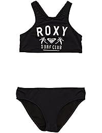 Roxy Girls 'ne se Ct St G Black Two Piece, Girls, ERGX203115, Anthracite - Solid