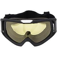Woyisisi Offroad-Rennbrillen Outdoor-Motorrad-Reitbrillen Offroad-Brillen Winddichte Fahrrad-Brillen(Gelb)