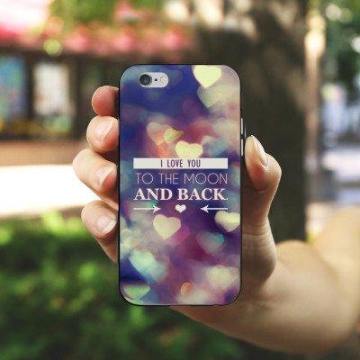Apple iPhone X Silikon Hülle Case Schutzhülle Valentinstag Geschenk Liebe I love you Silikon Case schwarz / weiß