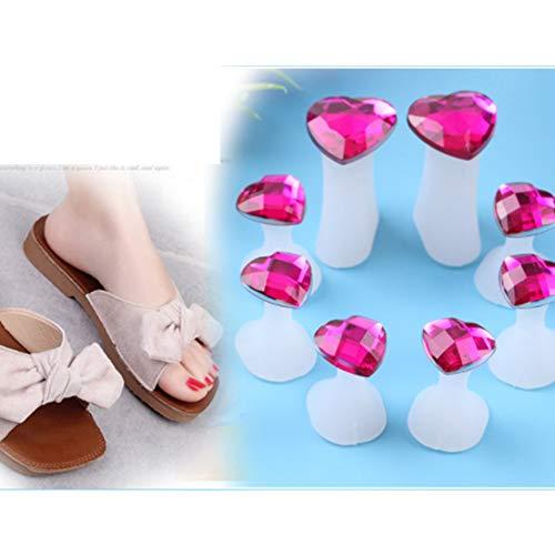 Mein Ji Gel-Nagellack-Abzieher für Fußnägel und Nageltrenner, 8 Stück (in Herzform)