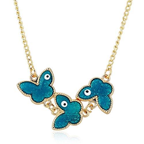 Retro tropfendes Öl personalisierte Schmetterling Halskette Allergikerfreundlich verabschiedet SGS Inspektion Anhänger Kleidung Accessoires Der Ornamente (0 Af 2)