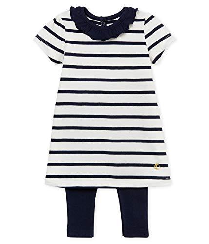 Petit Bateau Baby - Mädchen Bekleidungsset Robe + Legging_4907000, Mehrfarbig (Variante 1 00), 92 (Herstellergröße: 24M/86cm)