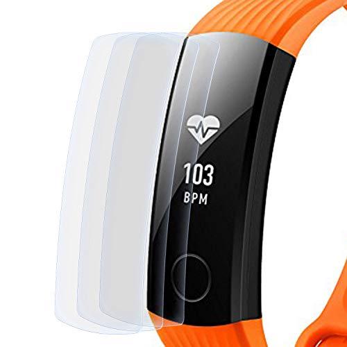 zanasta 3 Stück Schutzfolie kompatibel mit Huawei Honor Band 3 Bildschirmschutzfolie Nano Schutz Folie | Volle Abdeckung, Klar Transparent