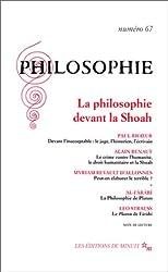 Philosophie N° 67 Septembre 2000 : La philosophie devant la Shoah