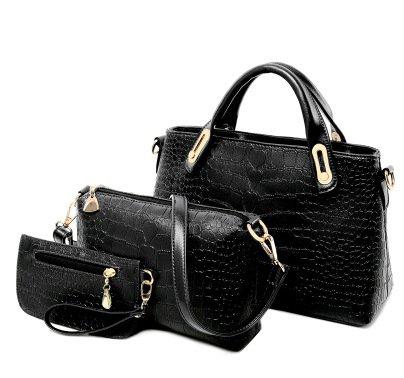 Mefly Tre Set Di Borsa Borsetta Borsa Fashion Borsa A Tracolla Giallo black