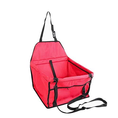 HKANG Cat Welpe Pet Pet Booster Seat Schutz Travel Carrier Bag Deluxe-Clip-On Sicherheit Leash Playpen Easy Falten,Red,FullProtectionType -
