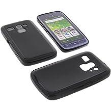 Funda para Doro Liberto 820 Mini Funda protectora de goma TPU para móvil negra
