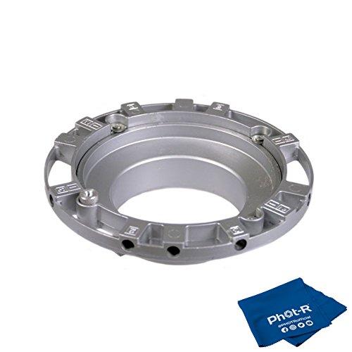 Phot-R Speed Ring Adapter Speedring Mount Softbox Für Bowens S Typ Flash Strobe + Mikrofaserstoff Speed Ring-strobe