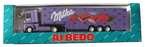 Milka - Alpenmilch Schokolade mit Erdbeercreme - Renault Magnum - Sattelzug - von Albedo