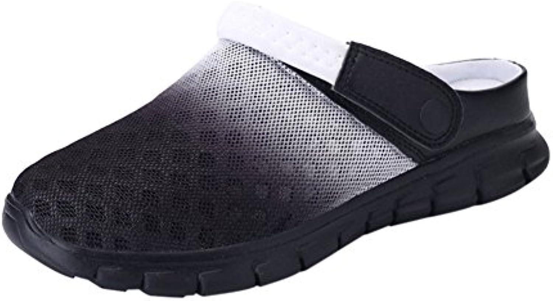 Hzjundasi Zapatillas de Playa, Verano Respirable de la Red del Acoplamiento Zuecos Jardín Sandalias Unisex Adulto -