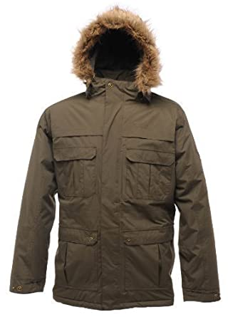 Regatta Landscape Mens Parka - Colour: Dark Khaki, Size: 2XL ...