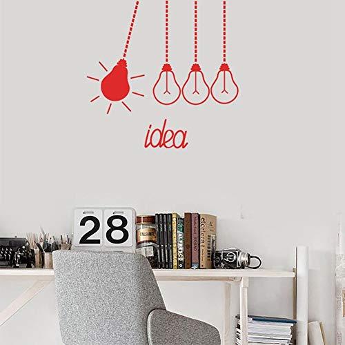 QINGTIEA Wandtattoo Wandtattoo Kreatives Design Glühbirnen Klassenzimmer Zitat Idee Vinyl Kinder Schlafzimmer Interior Art Decor, 43 * 42Cm