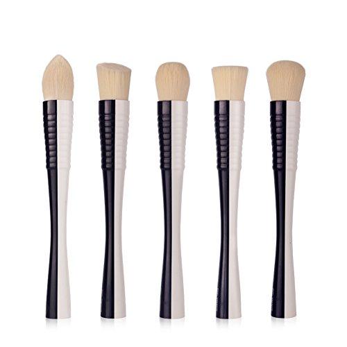 LEXUPE 5pcs Base de Maquillage Fard à paupières Blush Visage Pinceau pour Les Yeux Outils de beauté cosmétiques(Noir,34)