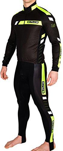 Completo ciclismo invernale giacca + calzamaglia windstopper termico (XL)