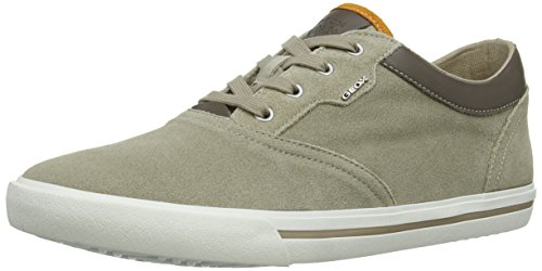 Geox Smart F, Chaussons Sneaker Homme Multicolore (Sand/Taupe)