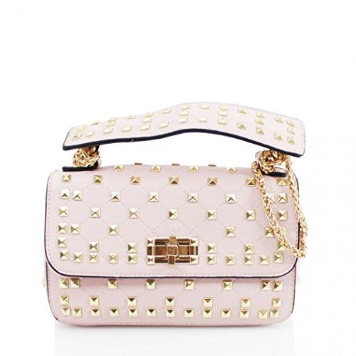 LeahWard Damen Schultertasche Süße Umhängetaschen Handtasche 257 (Pink Besetzt)