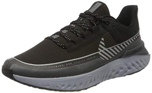 Nike Legend React 2 Shield, Zapatillas de Atletismo para Hombre, Multicolor (Black/Reflect Silver/Dark Grey/Wolf Grey 001), 43 EU