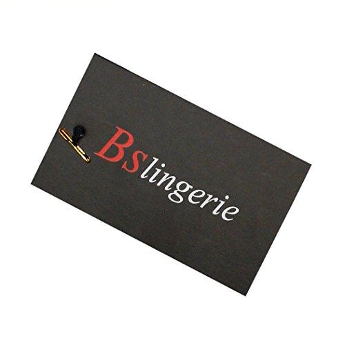 fd45aa63d92 BSLINGERIE® Womens Black Faux Leather Straps Boned Corset with Zipper