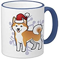 queenl di Natale Akita Inu/Shiba Inu Ringer tazza mug tazza di caffè Tazza di Caffè Regalo di natale