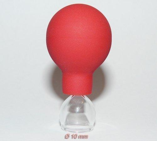 Coppette di vetro 10mm con palla per Coppettazione Senza Uso Del Fuoco Massaggio del viso Terapia naturale