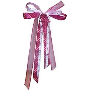Große Schultütenschleife pink