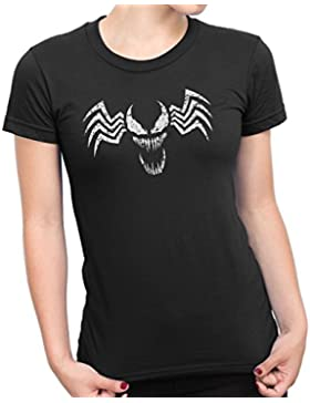Venom Face Symbol Distressed Women's T-Shirt