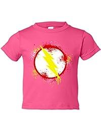 Camiseta niño Flash logo salpicadura pintura