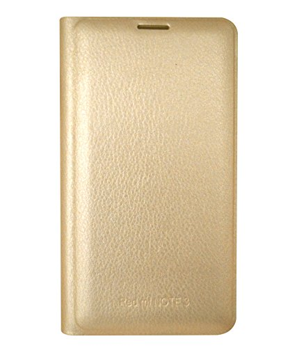 RDCASE Flip Cover for Xiaomi Redmi Note 3 - Golden  available at amazon for Rs.249