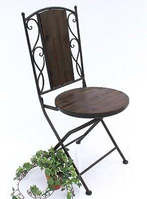 Stuhl Gartenstuhl HX12975 Bistrostuhl 92cm Klappstuhl aus Metall und Holz