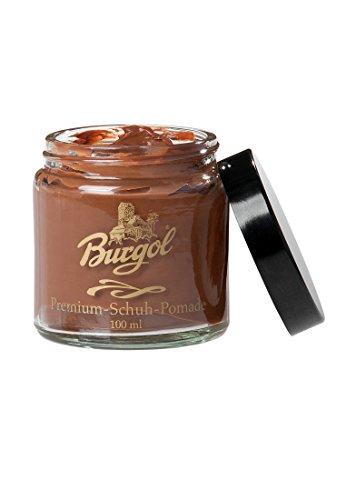 Pomade von Burgol in 15 Farben - Schuhpomade Burgol Cognac