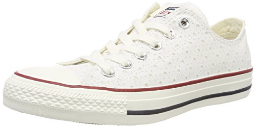 Converse CTAS OX, Zapatillas Unisex Adulto, Blanco (White/Garnet/Athletic Navy 102), 35 EU