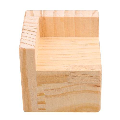 7,5x7,5x8,3 cm Halb geschlossene L-förmige Holz Tisch Schreibtisch Bett Riser Lift Möbel Lifter Lagerung für 6x6 cm Füße bis zu 5 cm Aufzug -
