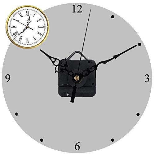 Quarz Uhrwerke Mechanismus Reparatursatz, DIY Wanduhr Uhrwerk mit hohem Drehmoment und Reparatur Kits mit Stunden/Minuten/Sekundenzeiger für (0,6-0,8 Zoll) Zifferblattdicke, 31 mm Lange Spindel Schwar -