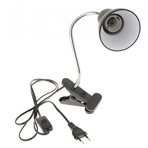 Sharplace Glühbirnen Halterung Lampen Halter Halterung Flexible Lampenfassung mit Clip für Klemmen Tischlampe,Eu Stecker