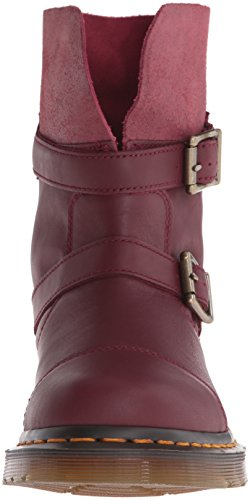 Dr. Martens KRISTY Cherry Red Virginia Red Slouch Rigger bateau 20876600 RED|MAROON