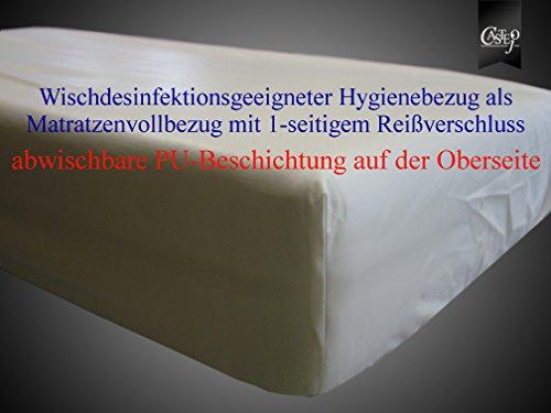 CA2075 wischdesinfektionsgeigneter Matratzenvollbezug, verschieden Größen von Castejo, Matratzenschutz/Inkontinenz/Nässeschutz/Pflege/Krankenhaus/Schutzauflage/Encasing verschieden Größen Farbe weiß (90x200cm) SOFORT LIEFERBAR