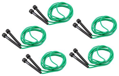 trenas Set: 5X Springseil, Speed Rope 3 Meter, grün