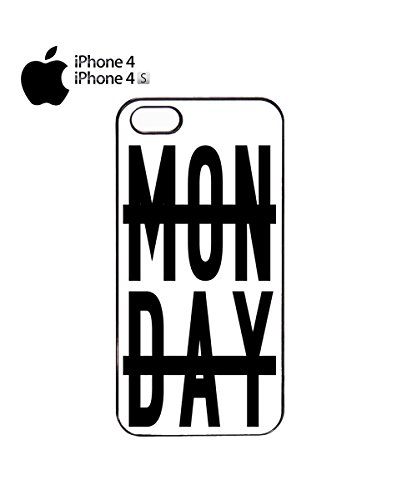 Monday Writing With Line Mobile Phone Case Cover iPhone 5&5s White Noir