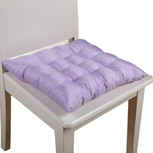 Ouneed® Sitzkissen Stuhlkissen , Soft Home Office Square Cotton Sitzkissen Gesäss Stuhl Kissen Auflagen (Lila) - Sitzkissen Lila