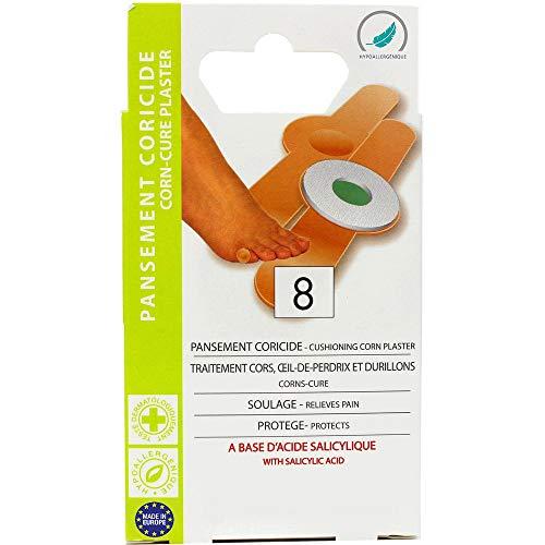 EUROSIREL - Pansements Coricides Pour Cors Aux Pieds Durillons Et Oeils De Perdrix x 8