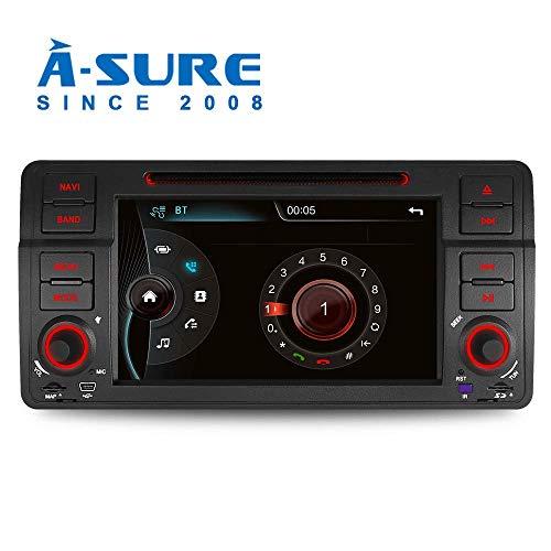 """A-SURE Autoradio DVD GPS Player für BMW E46 3er 318 320 325 Rover 75 MG 7\"""" Unterstützt GPS Navigation Bluetooth Lenkradfernbedienung USB SD VMCD Mirrorlink DAB+ ZTE46Q 2-Jahre-Garantie"""